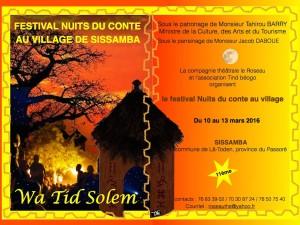 Affiche Nuits du conte au village 2016