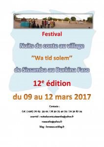 Rendez-vous à la 12è édition du festival Nuits du conte au village du 09 au 12 mars 2017.